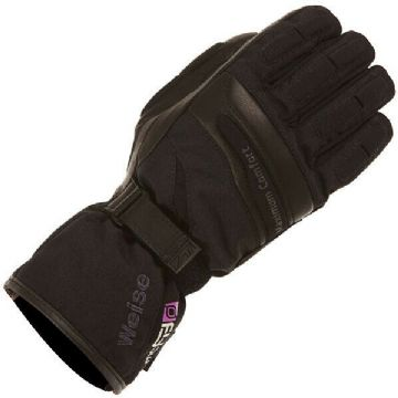 Weise Ladies Legend Waterproof Motorcycle Motorbike Leather Textile Glove Black